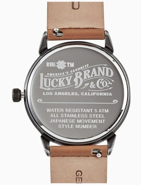 TORREY BROWN LEATHER WATCH, 34MM, TWO TONE