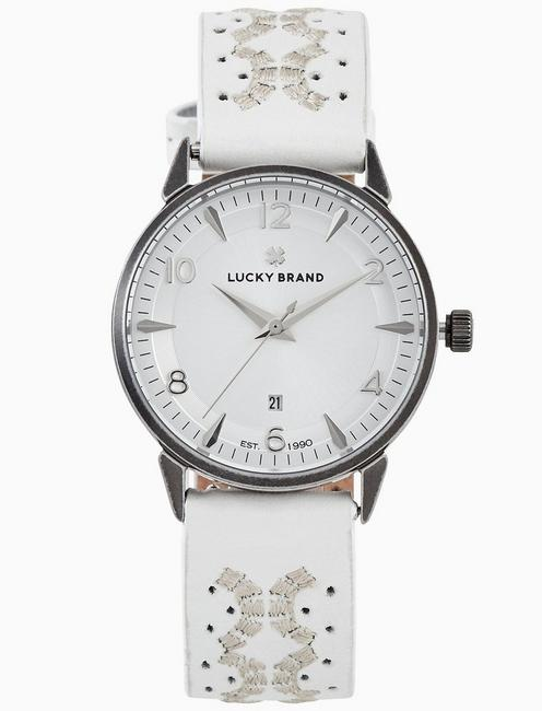 Lucky Torrey White Embroidered Watch, 34mm