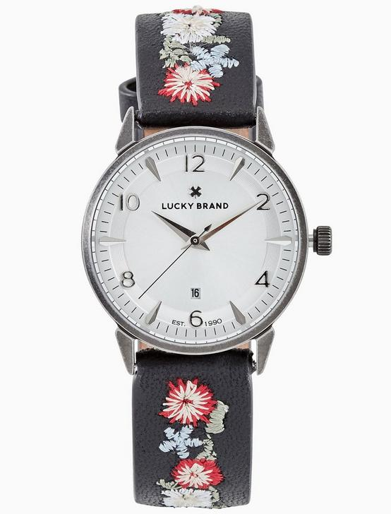 TORREY MULTI-EMBROIDERED WATCH, 34MM, SILVER, productTileDesktop