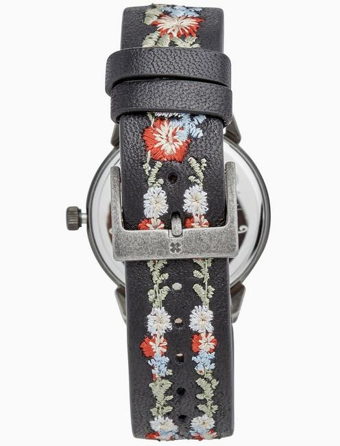 TORREY MULTI-EMBROIDERED WATCH, 34MM, SILVER