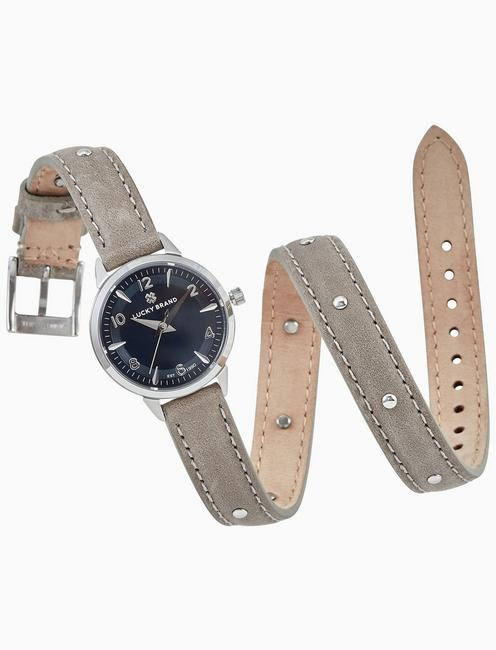 Lucky Torrey Mini Grey Wrap Stud Watch, 28mm