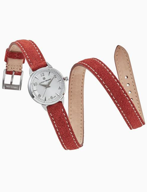 Lucky Torrey Mini Red Wrap Watch, 28mm