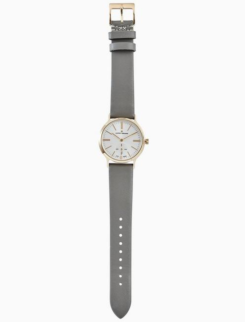 Lucky Ventana Grey Leather Watch, 34mm