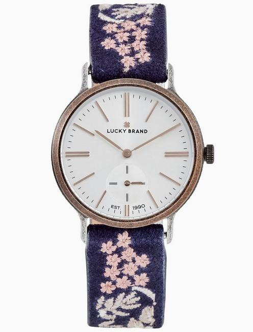Lucky Ventana Tan Embroidered Watch, 34mm