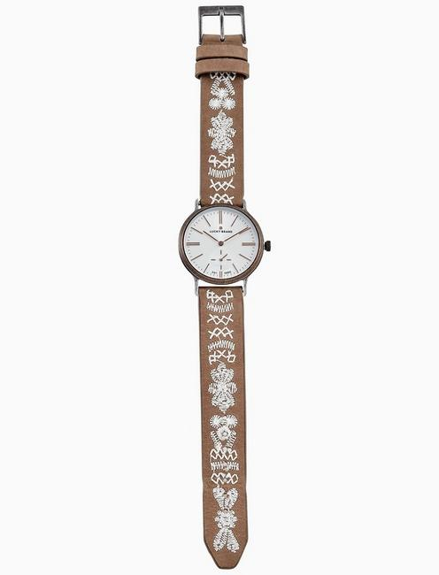 Lucky Ventana Tonal Embroidery Watch, 34mm