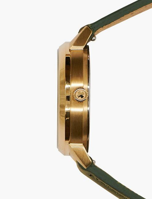 Torrey Olive with Gold Studs Watch, GOLD