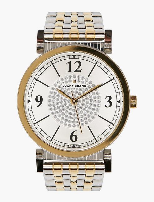 Carmel White Glitz Watch, TWO TONE