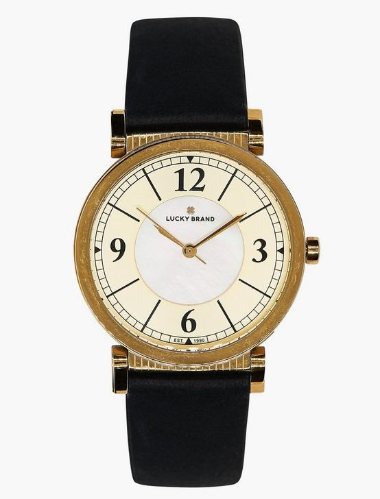 Carmel Navy Leather Watch, GOLD, productTileDesktop