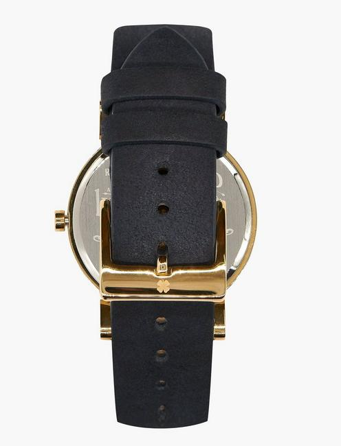Carmel Navy Leather Watch, GOLD