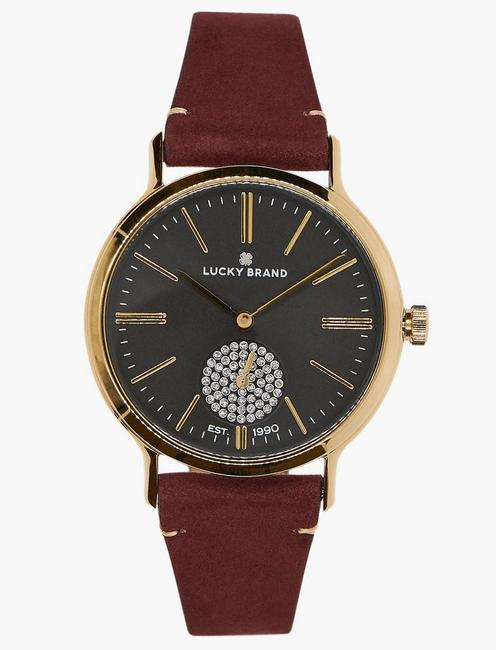 Lucky Ventana Berry Leather Watch