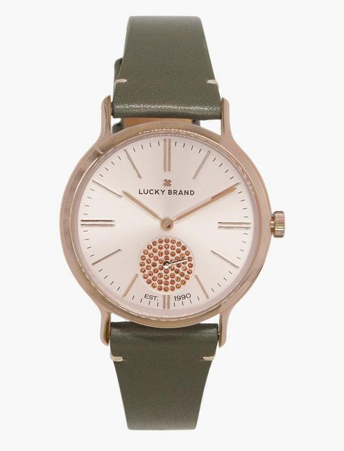 Lucky Ventana Light Grey Leather Watch