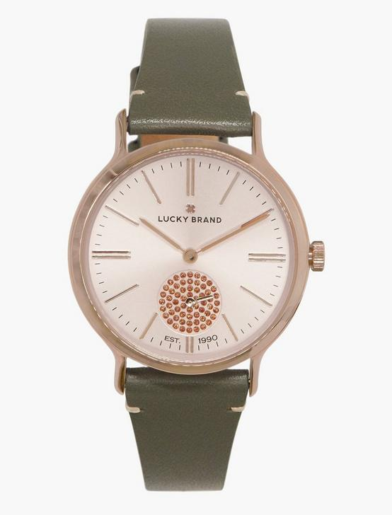 Ventana Light Grey Leather Watch, BRIGHT PINK, productTileDesktop