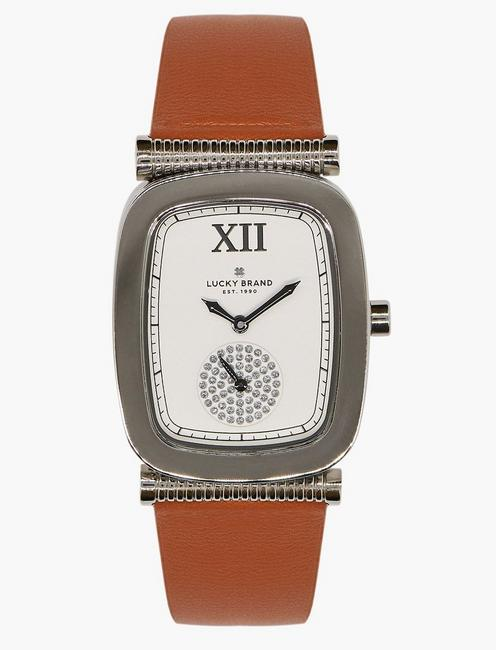 Lucky Laurel Tan Leather Watch