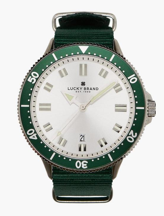 Dillon Green Nato Watch, SILVER, productTileDesktop