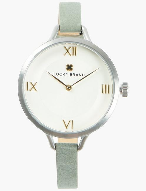 Indio Sterling Silver Suede Watch, 36mm