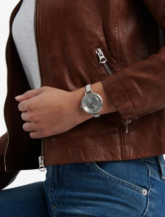 INDIO BLUE SUEDE WATCH, 36mm, SILVER, productTileDesktop