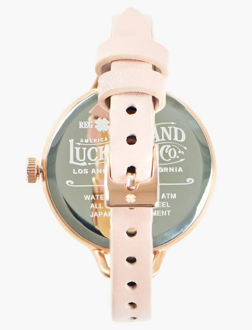 INDIO BLUSH LEATHER WATCH, 36mm, BRIGHT PINK