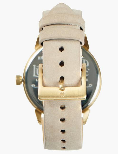 Torrey Vanilla Leather Watch, GOLD