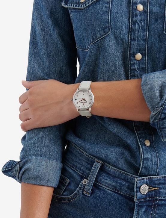 Torrey Light Blue Suede Watch, SILVER, productTileDesktop