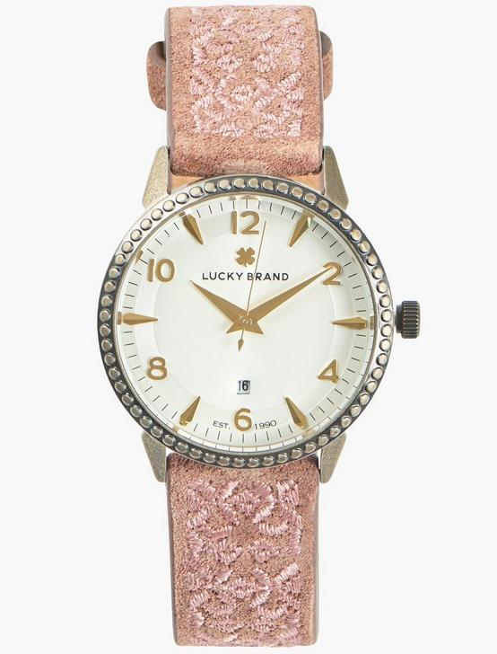 Torrey Rose Gold Embroidered Watch, GOLD, productTileDesktop