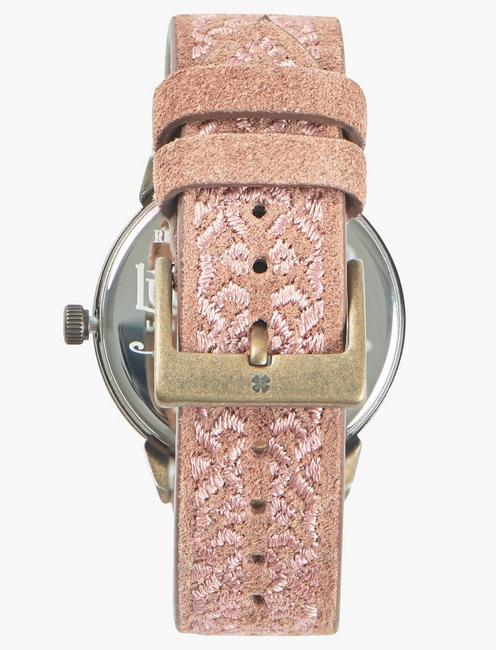 Torrey Rose Gold Embroidered Watch, GOLD