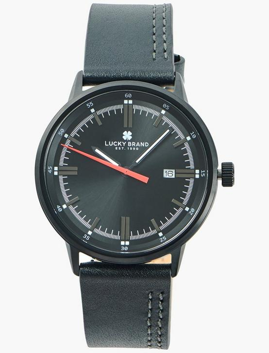 Fairfax Gray Leather Watch, SILVER, productTileDesktop