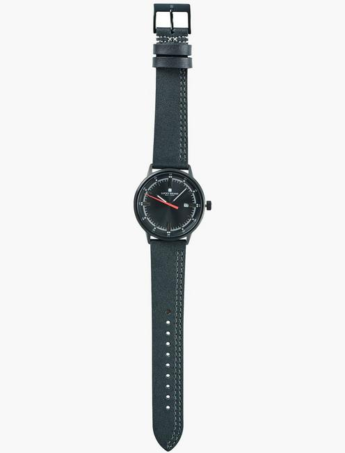 Fairfax Gray Leather Watch, SILVER