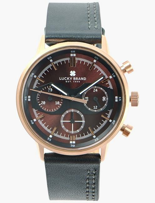 Fairfax Multi Black Leather Watch,