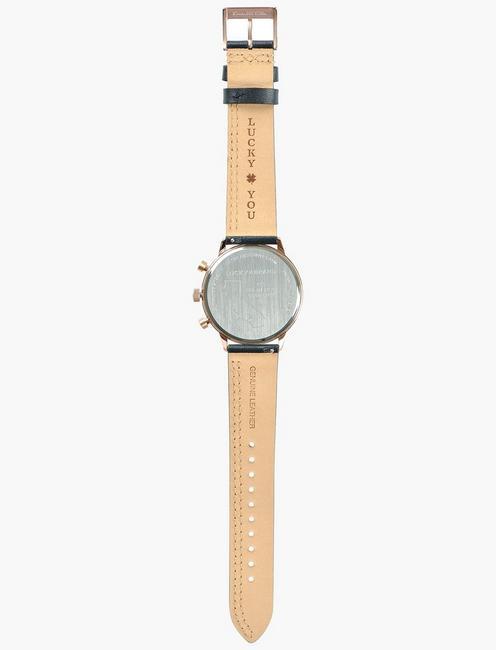 Fairfax Multi Black Leather Watch, BRIGHT PINK