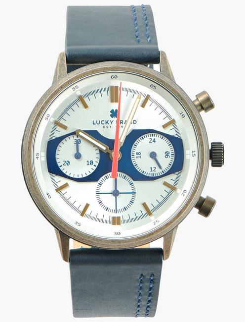 Fairfax Multi Navy Leather Watch