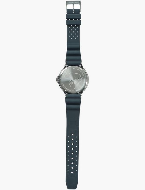 DILLON MULTI BLACK SILICONE WATCH, 42mm, SILVER