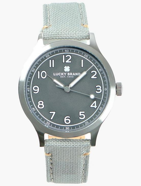 Jefferson Gray Fabric Watch, SILVER, productTileDesktop