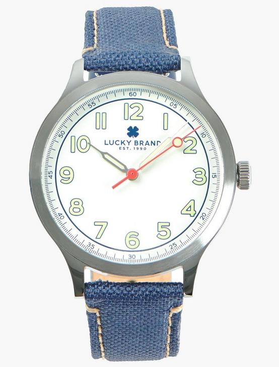 Jefferson Navy Fabric Watch, SILVER, productTileDesktop