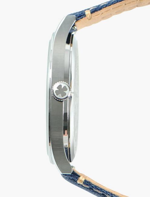 Jefferson Navy Fabric Watch, SILVER