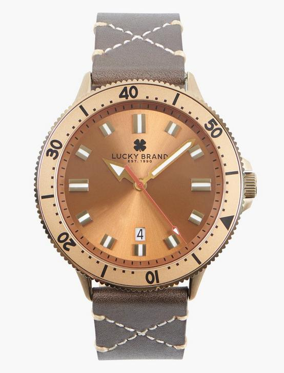 Dillon 3H Bronze Watch, GOLD, productTileDesktop