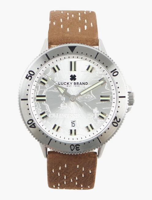 Dillon 3H White Etched Dial Watch,