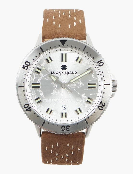 Dillon 3H White Etched Dial Watch, SILVER, productTileDesktop