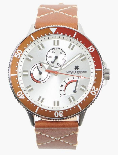 Dillon Multi SS White Dial Watch, SILVER