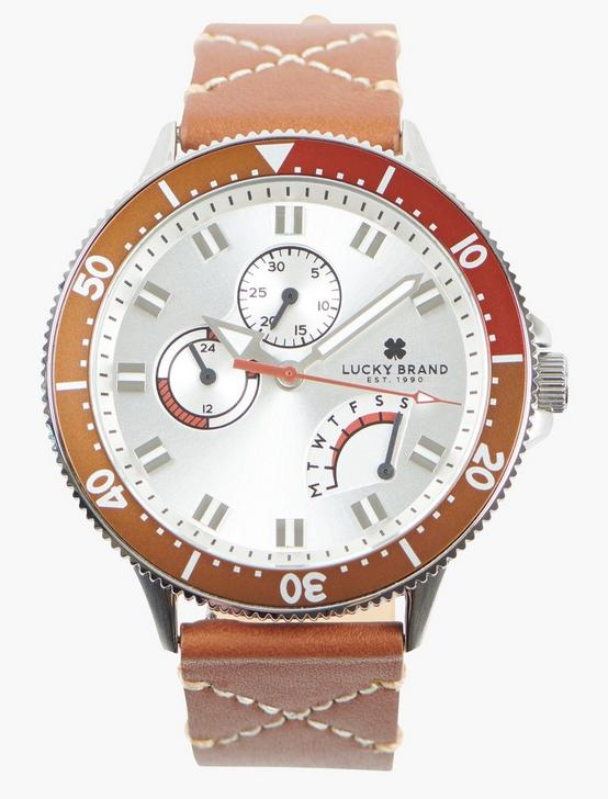 Dillon Multi SS White Dial Watch, SILVER, productTileDesktop