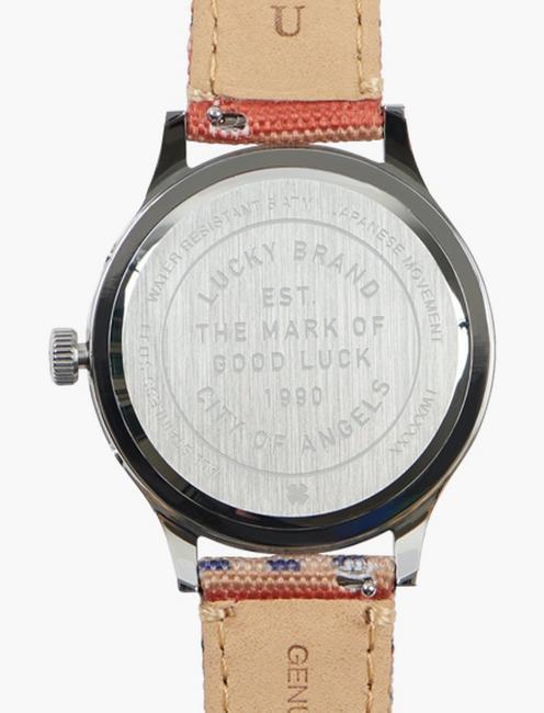 Jefferson Multi Navy Dial Watch, SILVER