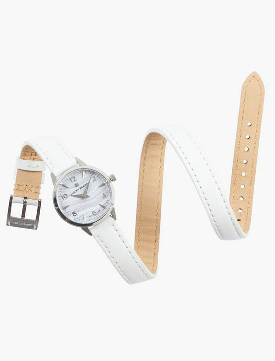 Indio SS Turq White Strap Watch, SILVER, productTileDesktop