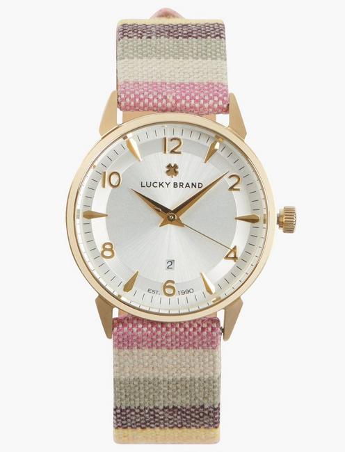 Torrey 3H YG Serape Strip Watch, GOLD