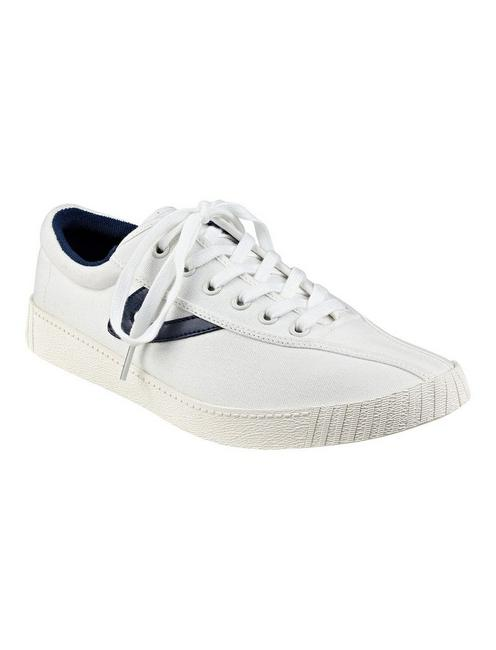 TRETORN NYLITE CANVAS SNEAKER, WHITE/BLUE