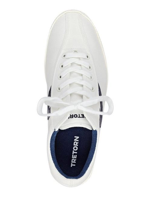 TRETORN NYLITE SNEAKER, OPEN WHITE/NATURAL
