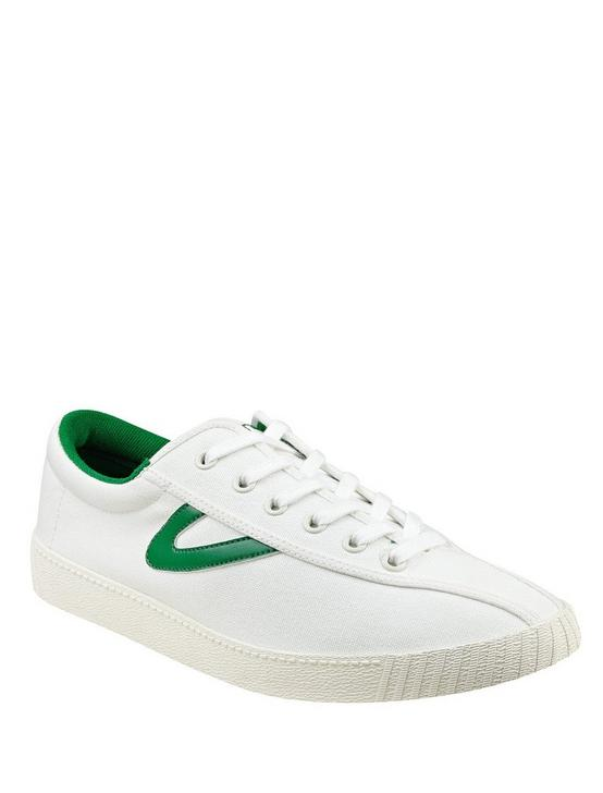 TRETORN NYLITE CANVAS SNEAKER, WHITE/GREEN, productTileDesktop