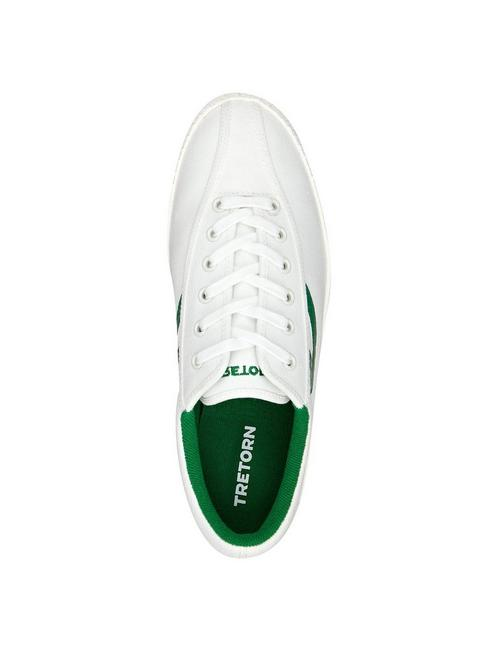 TRETORN NYLITE CANVAS SNEAKER, WHITE/GREEN