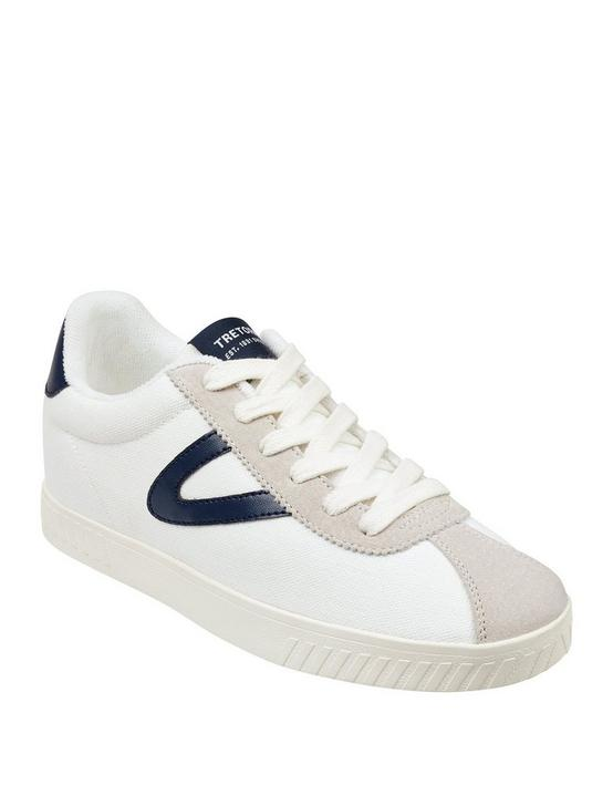 TRETORN CALLIE LEATHER SNEAKER, WHITE/BLUE, productTileDesktop
