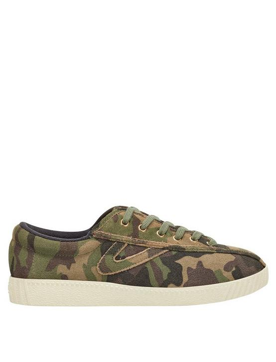 TRETORN NYLITE29P CAMO CANVAS SNEAKER, DARK GREEN, productTileDesktop