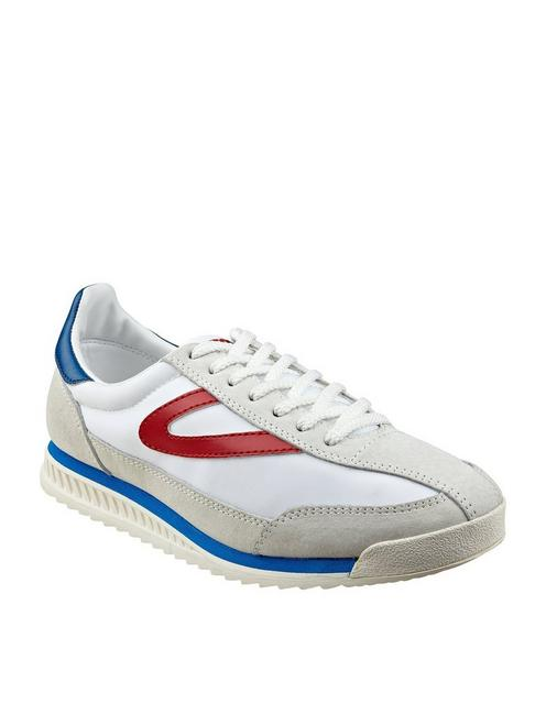 TRETORN RAWLINS 3 SUEDE SNEAKER, WHITE/RED/BLUE