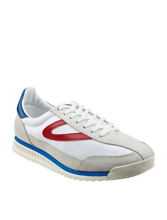 TRETORN RAWLINS 3 SUEDE SNEAKER, WHITE/RED/BLUE, productTileDesktop